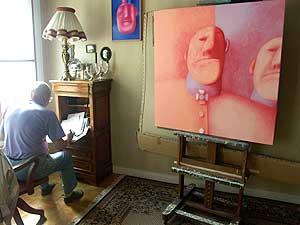 Портрет художника в интерьере. Париж. 2004 г. Фото Вадима Алексеева