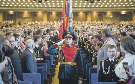 Савелкинские кадеты приняли участие вмосковском консилиуме кадетского образования
