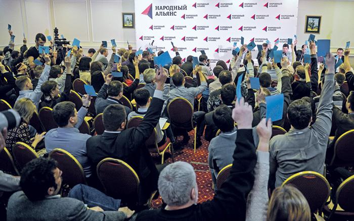 Партия приветствует долгожданного лидера.Фото РИА Новости