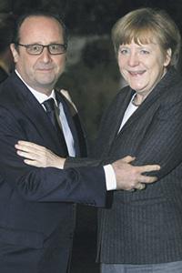 Франсуа Олланд и Ангела Меркель решили выступить с новой инициативой по мирному урегулированию в Украине.Фото Reuters