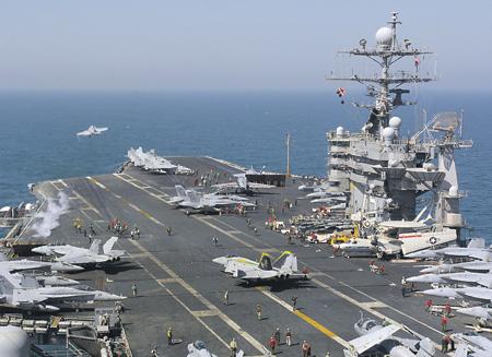 Самолеты авианосца Harry S. Truman в этом году уже бомбили Сирию.Фото с сайта www.navy.mil