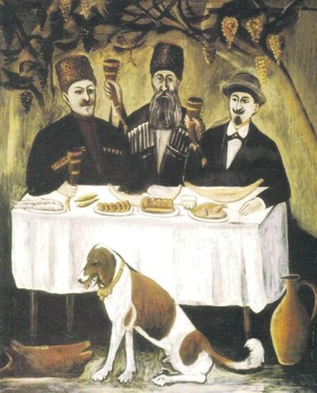 Андрей Битов: «Грузия для меня много раз родина». Нико Пиросманишвили. Кутёж в виноградной беседке. Государственный музей искусств Грузии (Тбилиси)