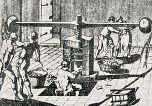 Ньютон железной рукой восстановил трудовую дисциплину на Монетном дворе.Рисунки из «Энциклопедии», Д. Дидро