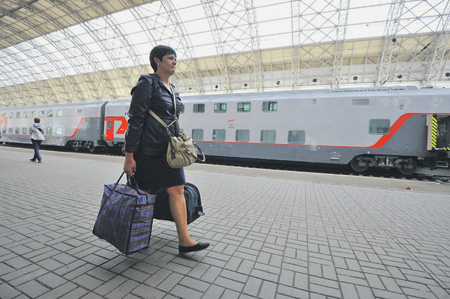 Одна из пассажирок «колбасных» поездов дальнего следования ступила на столичную землю.Фото PhotoXPress.ru