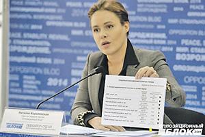 Депутат от Оппозиционного блока Наталия Королевская проходит свидетелем по делу ДНР и ЛНР. Фото с сайта www.opposition.org.ua