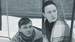 Актеры Алексей Черных и Лидия Омутных. Кадр из фильма «Сын»