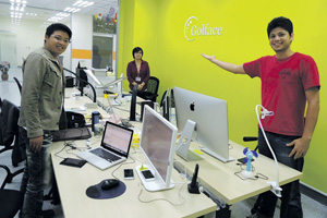 В Университете Цинхуа умеют даже измерять мышечный тонус. Фото автора