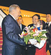 Нурсултана Назарбаева встречали в Пекине с особой теплотой. Фото с официального сайта президента Казахстана