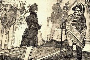 В истории государства российского случались времена, когда чиновники получали меньше, чем швейцары. Или даже лакеи. Иллюстрация к повести Н.В. Гоголя «Невский проспект», 1904