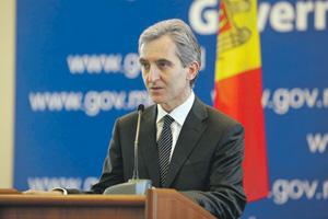 Юрие Лянкэ выступил с критикой президента Румынии Траяна Бэсеску. Фото с официального сайта правительства Молдавии