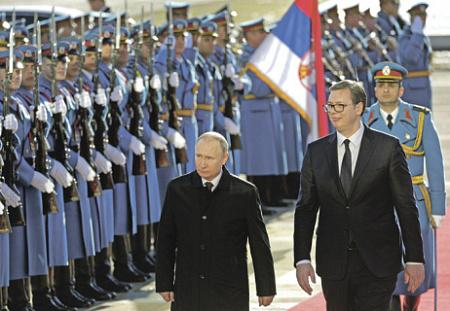 Картинки по запросу фото путин и вучич в белграде