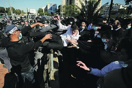 израиль, беспорядки, протесты, локдаун, ультраортодоксы, пандемия, интифада
