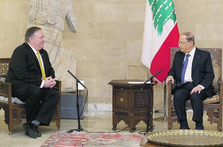 ливан, президент, мишель аун, помпео, хезболла, иран, израиль