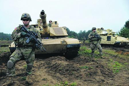 нато, военные маневры, балтия, латвия